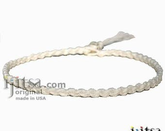 Soft White Hemp Chain Surfer Style Choker Necklace