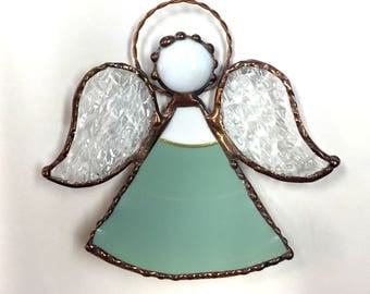Stained Glass China Plate Angel