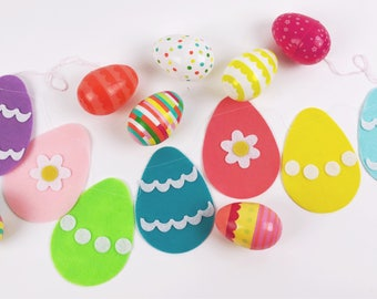 Easter Egg Banner // Easter // Spring // Felt Garland // Party Decor // Home Decor // Photo Prop