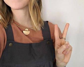 Choker, Collar Necklace, Geometric Necklace Simple Necklace, Statement Necklace, Simple Necklace, HALO