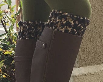 Thick Boot Cuffs (Black and Tan)