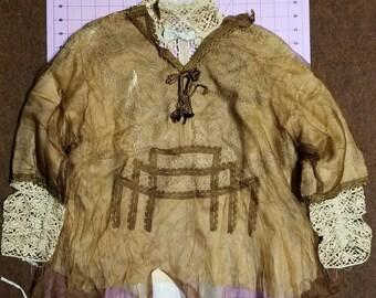 Victorian Dress Bodice Copper Silk