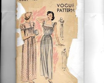 Vogue Nightgown Pattern 6661