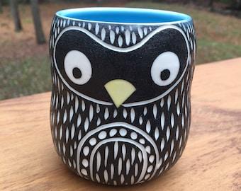 Modern Porcelain Penguin Cup