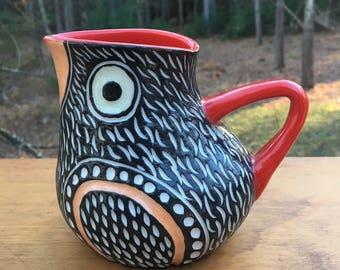 SALE Sleek Modern Bird ewer vase