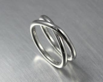 ON SALE TODAY Eternity Ring, Minimalist Jewelry, Simple Infinity Ring, Sterling Silver