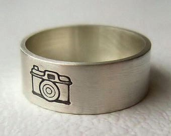 ON SALE TODAY Camera Ring, Photographer Gift, Camera Jewelry