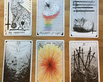 6 card reading: Basic Tarot Deck