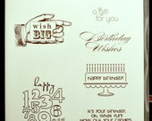 Used Like New, Bring On the Cake Stampin' Up! retired rubber stamp set (13)