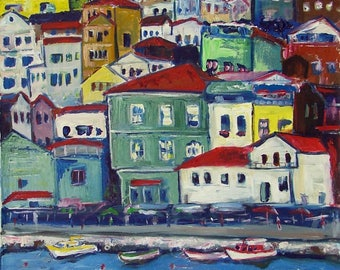 Bosphorus Istanbul Seascape - Fine Art Print Giclee from Original Oil Painting by BenWill