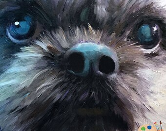 Shih Tzu Portraits - Shih Tzu Painting from your Photo - Pet Portraits
