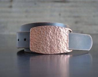 Hammered Copper Belt Buckle by Fosterweld