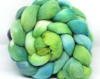 Polwarth Wool Top Hand Dyed Combed Fibre 100g  POL11