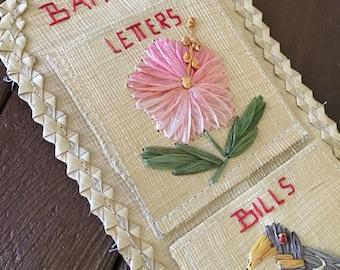 Straw bill & mail organizer from Bahamas
