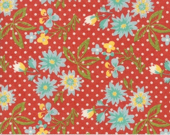 Biscuits and Gravy - Grow Daisies in Jelly Red: sku 30481-11 cotton quilting fabric by BasicGrey for Moda Fabrics