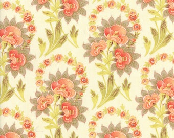 Hazel and Plum - Harvest Bouquet in Cream: sku 20290-17 cotton quilting fabric by Fig Tree and Co. for Moda Fabrics