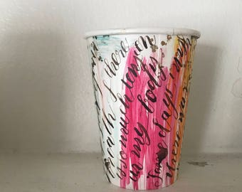 hold me tight - art on coffee cup