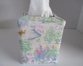 Tissue box cover, Valentines, Easter, square tissue box, reversible, home decor, decorative, bathroom, bedroom