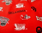 Oklahoma University Sooners Maroon and Black Fabric College Fabric 44 Inches Wide 100% Cotton Fabric Crafting Fabric Quilting Fabric