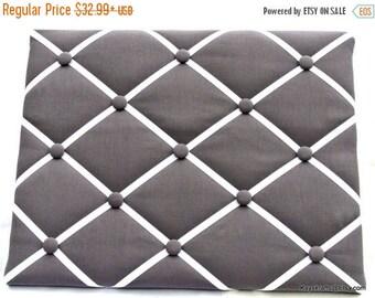 July 4th Sale Dark Gray Memory Board French Memo Board, Fabric Ribbon Memo Bulletin Board, Fabric Pin Board, Fabric Photo Board, Bedroom Dec