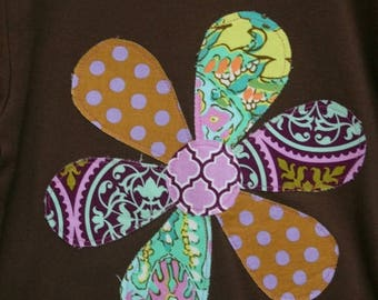 SALE STORE CLOSING Sale Lavender Girls Applique Flower T-shirt - Ready to Ship