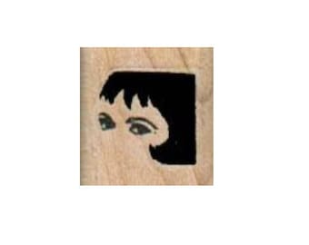 rubber stamp Eyes And Hair face   number 5253 unmounted, cling stamp, wood mounted stamps scrapbooking
