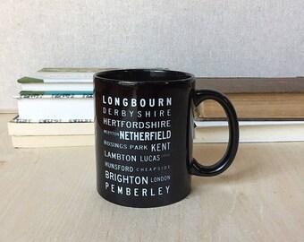 Pride and Prejudice Locations Mug