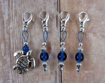 Sea Turtle Removable Lobster Claw Stitch Markers - Item No. 1038