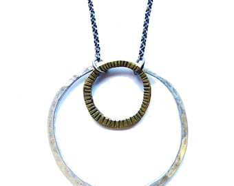 FOR RACHEL Mixed Circles Necklace