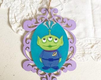 Disney Toy Story Alien Wooden Ornament Plaque