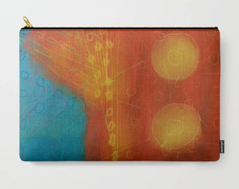 Colorful Abstract Art Clutch Bag Purse Handbag Carry All Pouch Cosmetics Bag