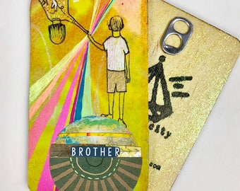 Brother - Hand Painted Wooden Oracle Card