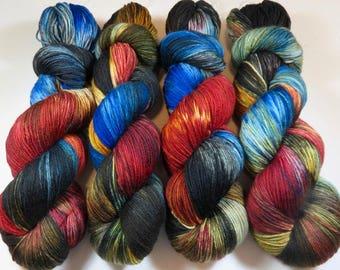 Hand Dyed Superwash Merino, Nylon, Cashmere MCN Sock Yarn (Explicit Content) -- FUCK 2016