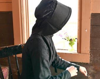Victorian Black Bonnet