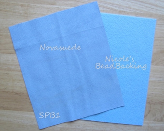 Novasuede Microfibor Fabric with Free Nicoles BeadBacking Sky & Powder Blue SPB1