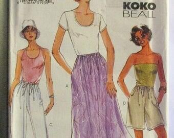 ON SALE Misses Sewing Pattern Vogue 7294 Misses Skirt, Shorts & Pants Pattern Size 14, 16, 18 Uncut