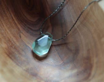 intuition . green fluorite intention necklace