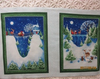 Christmas Village Panels by P & B Textiles