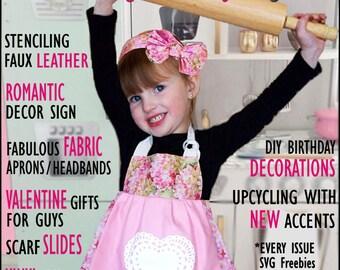 Spumoni Magazine Feb.-Mar. Instant Download Online Subscription, 6 per year, Cutting Machine Newbies-Advanced, Cricut, Silhouette 51 pages