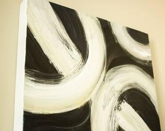 Abstract Minimalist Original Painting 18x30
