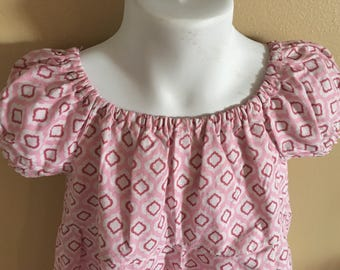 Peasant style girls valentines dress.