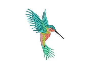 Machine Embroidery Hummingbird Machine Embroidery File design 5x7 inch hoop