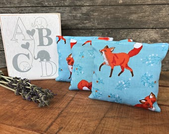 Woodland Nursery Decor - Fox Nursery - Lavender Sachet - Herbal Sachet - Woodland Baby Accessory - Baby Shower Gift - New Mom Gift - Baby