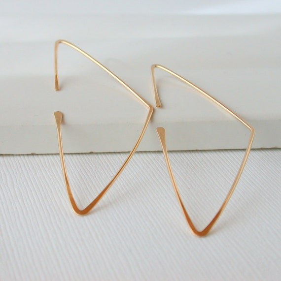 Triangle Threader Hoops