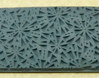 SHATTERED EMBOSSED Rubber Texture Tile Mat Stamp for Clay inks Paint Soap   TTL195