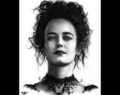 "Print 8x10"" - Vanessa Ives - Penny Dreadful Eva Green Supernatural Victorian London Frankenstein Gothic Dark Art Horror Lowbrow Pop Art"