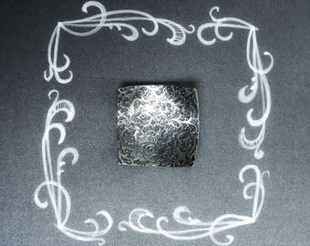 Elegant necklace. Timeless jewelry. Chunky pendant. Square pendant.