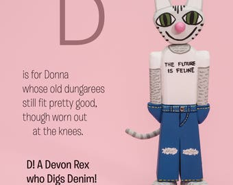 donna in dungarees