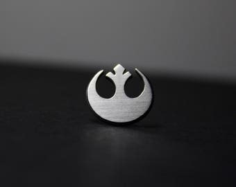 Rebel Insignia Pin Hand Cut Sterling Silver Star Wars Lapel Pin Tie Tack