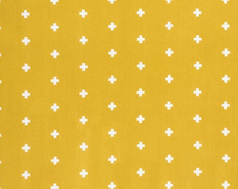 20% OFF! Joel Dewberry FABRIC - Wander Sateen - Cross in Maize